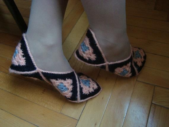 Hand made Crotchet shoes 307aca10