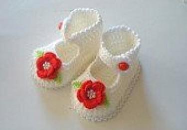 Hand made Crotchet shoes 754c5f10