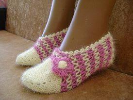 Hand made Crotchet shoes 78835d10
