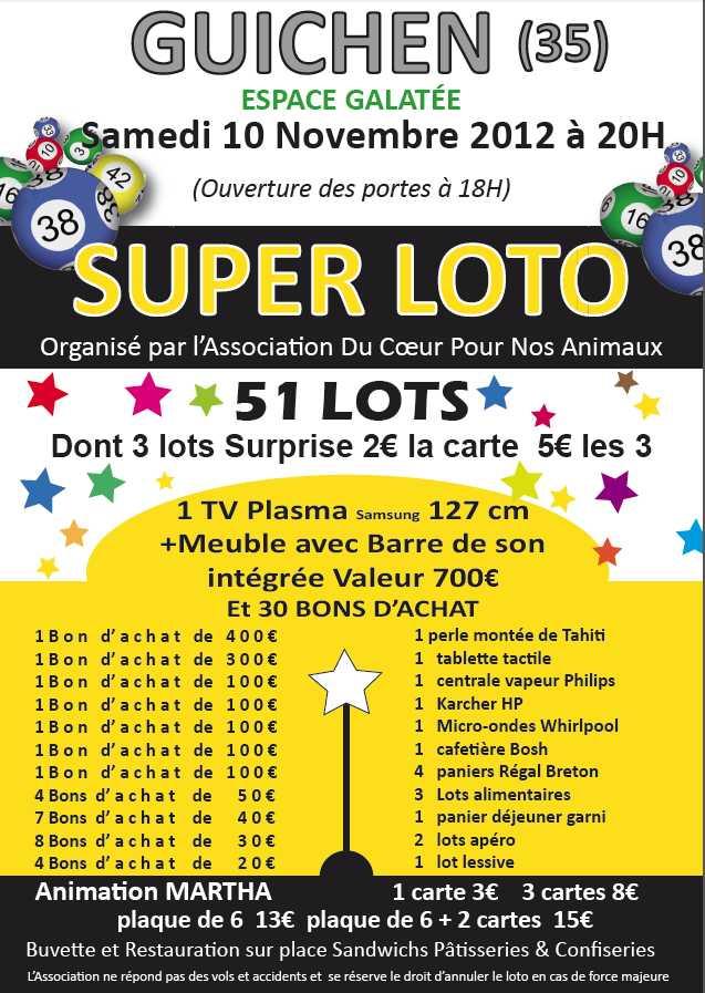 Grand loto à GUICHEN le 10 novembre 2012 - Page 2 Affich13