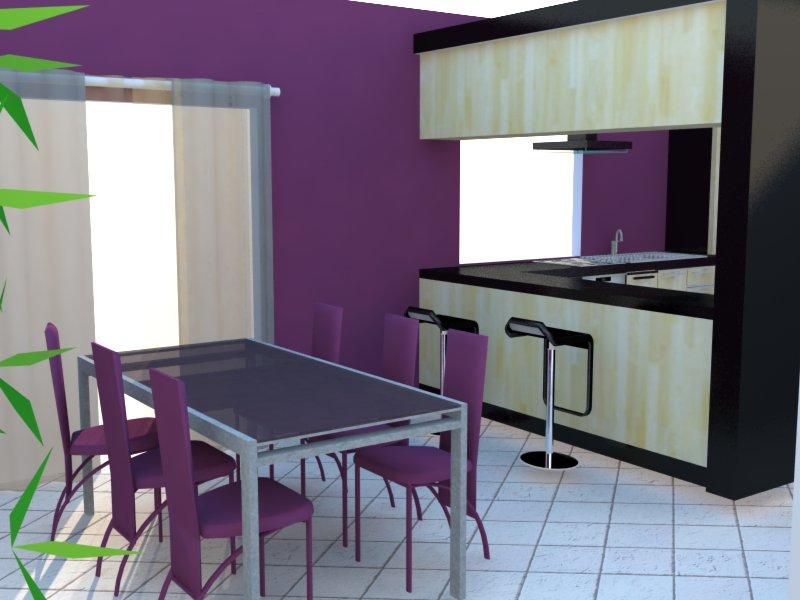Et maintenant salon, salle à manger, cuisine ouverte Salon110