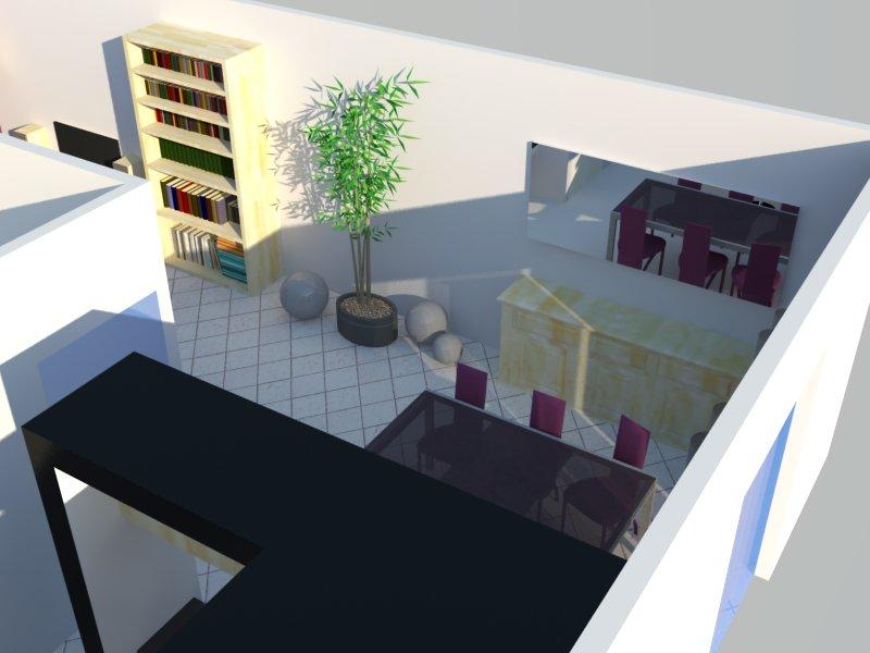 Et maintenant salon, salle à manger, cuisine ouverte Salon211
