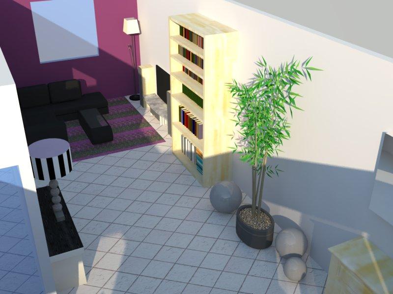 Et maintenant salon, salle à manger, cuisine ouverte Salon310