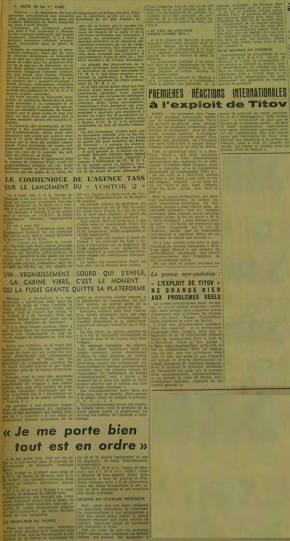 6 août 1961 - Vostok 2 - Guerman Titov 61080818