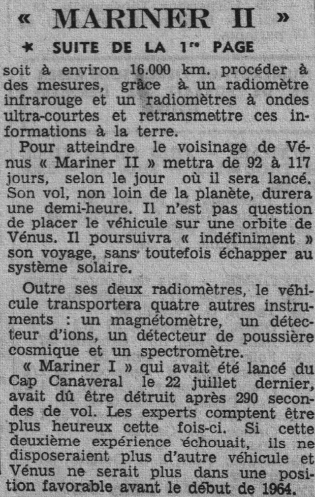 27 août 1962 - Mariner 2 - 1er survol réussi de Vénus 62081611