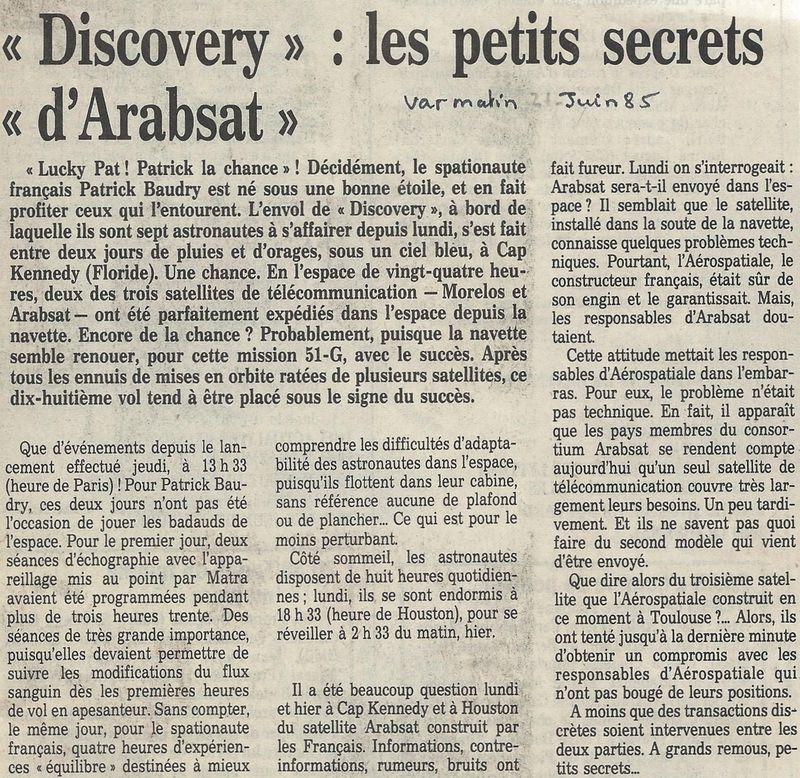 Patrick Baudry - 2ème Français dans l'espace - Page 2 85062110