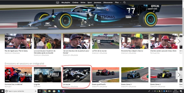 F1 TV: Streaming officiel - Page 5 Canal10
