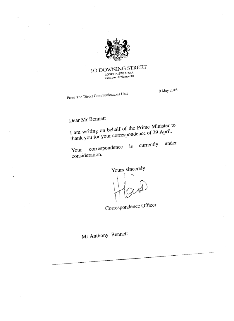 ***NEW - Reply received from Mike Penning M.P., Home Office, 6 Jun 2016*** (was:  Reasons why the public need a report on Operation Grange: The letter handed in to Prime Minister, David Cameron, on 29 April 2016 in support of the petition     - Page 4 Petiti10