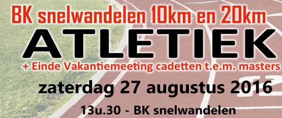 Championnat de Belgique 10km, 20km; Ypres; 27/08/2016 Bk_20110