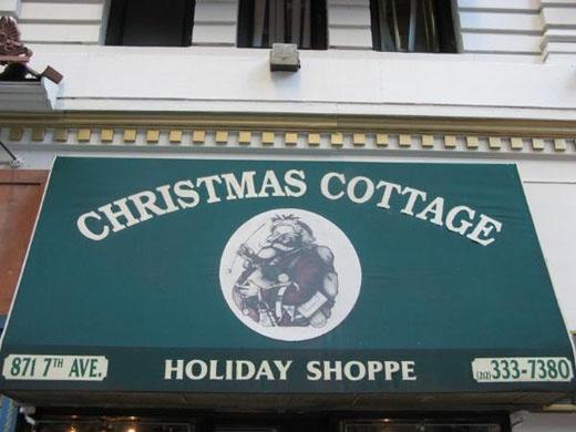 Boutique de Décoration de Noel près de Times Square Christ10