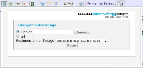 Comment insérer vos photos sur le forum Tuto310