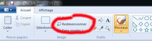 Redimensionner une image sous windows Tuto311