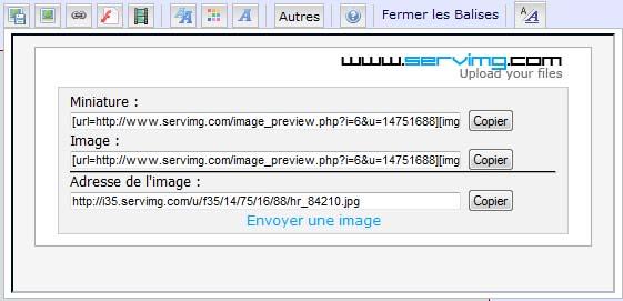 Comment insérer vos photos sur le forum Tuto410