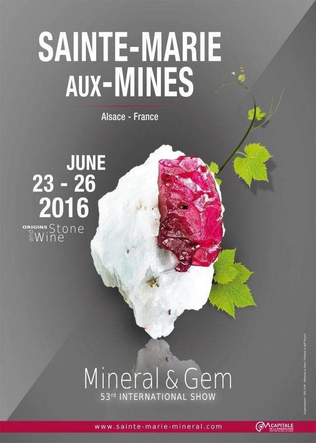Sainte-Marie-aux-Mines International Mineral & Gem Show 2016 Affich12