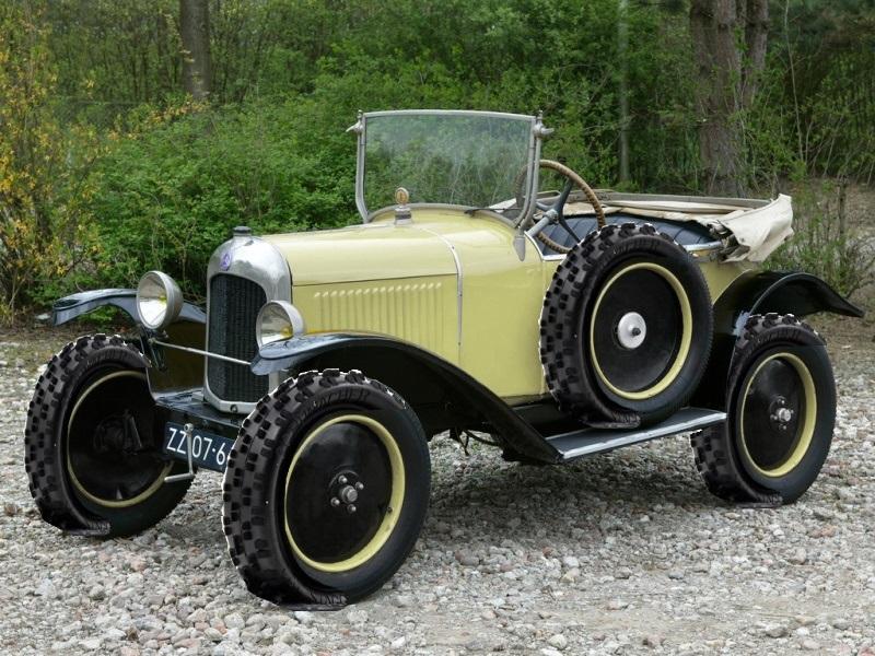Citroën 5HP Torpédo 1923 - 1926 au 1/10ème de France-jouet       sur ponts-trans HSP Kulak 1/18ème    Cache410