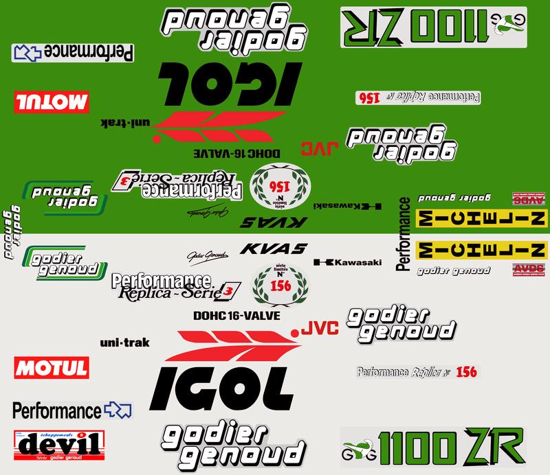 planche stickers pour 1100/900 ZR godier genoud 01468_12