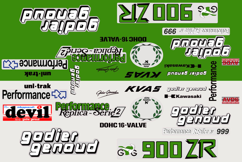 planche stickers pour 1100/900 ZR godier genoud 01469_15