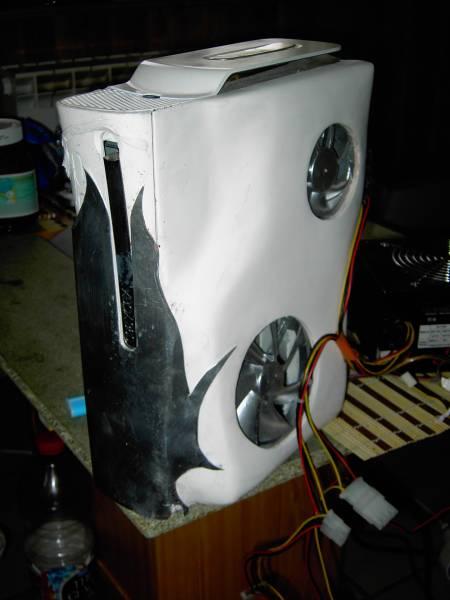 Voici ma Xbox 360 avec coque refait pour une meilleur aération 24241910