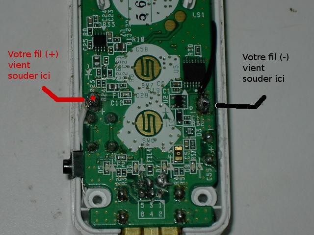 Tuto pour faire une wiimote avec chageur USB intégré ou jouable sans pile Pict0218