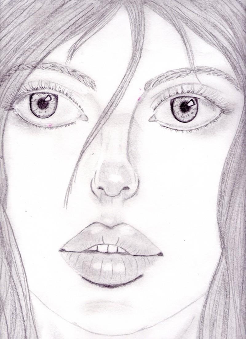 portrait réaliste crayon HB Dessin38
