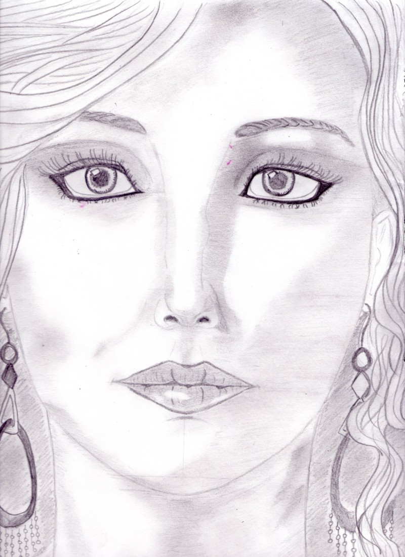 portrait realiste de jennifer lawrence  Dessin48