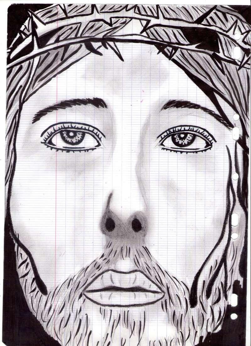 dessin crayon jesus christ  Dessin72