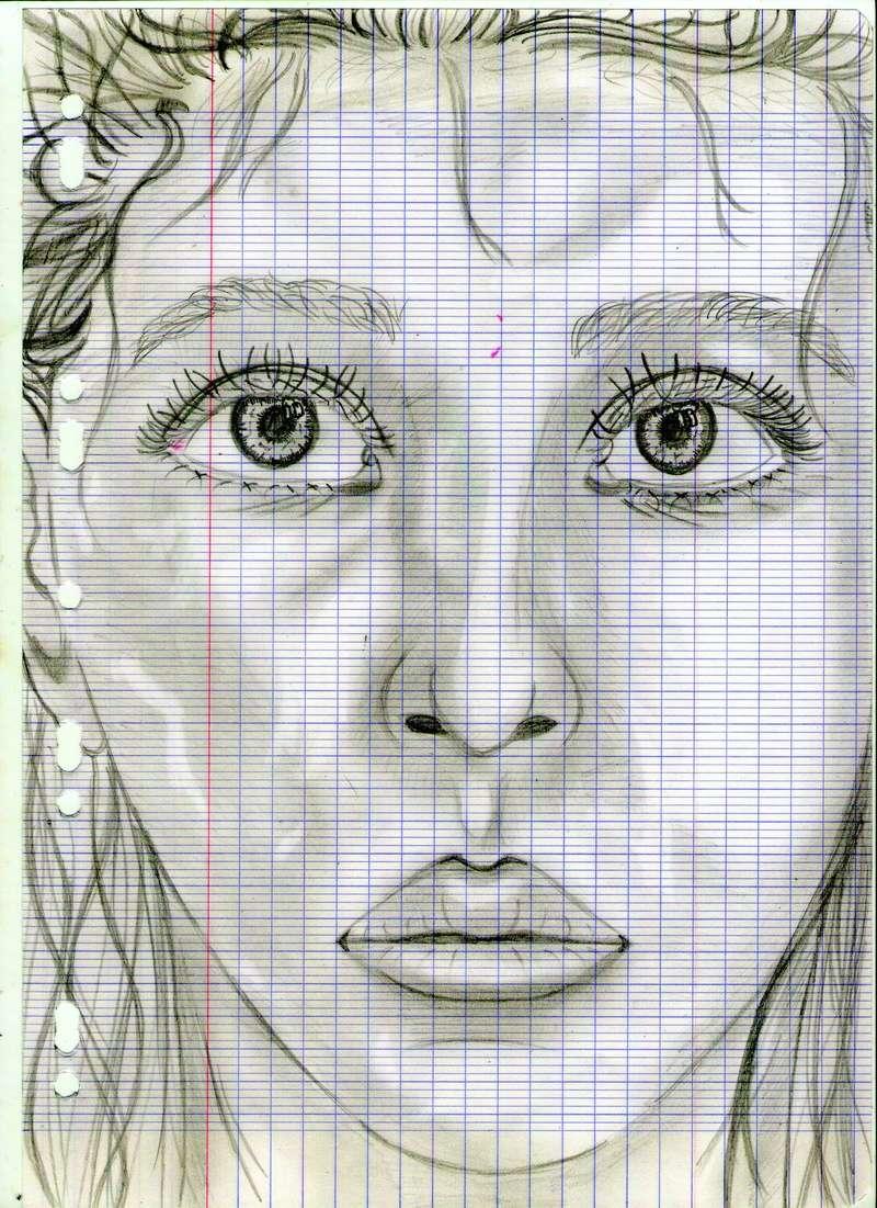 crayon noir, portrait realiste Dessin86