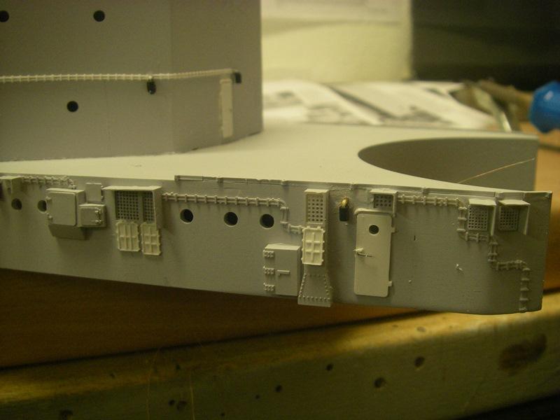 Bau der Bismarck in 1:100  Imgp8517
