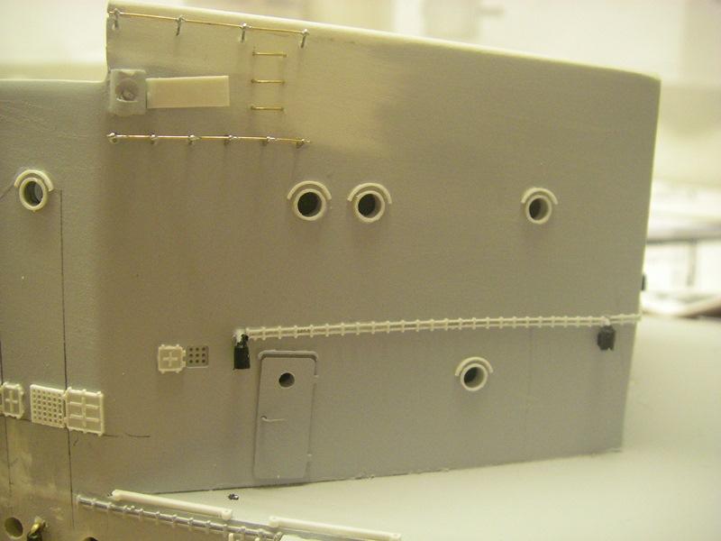 Bau der Bismarck in 1:100  Imgp8521