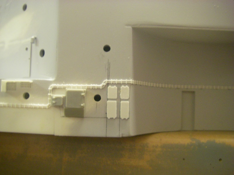 Bau der Bismarck in 1:100  Imgp8524