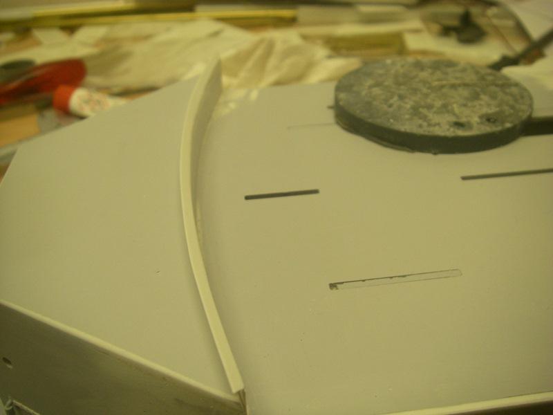 Bau der Bismarck in 1:100  Imgp8538