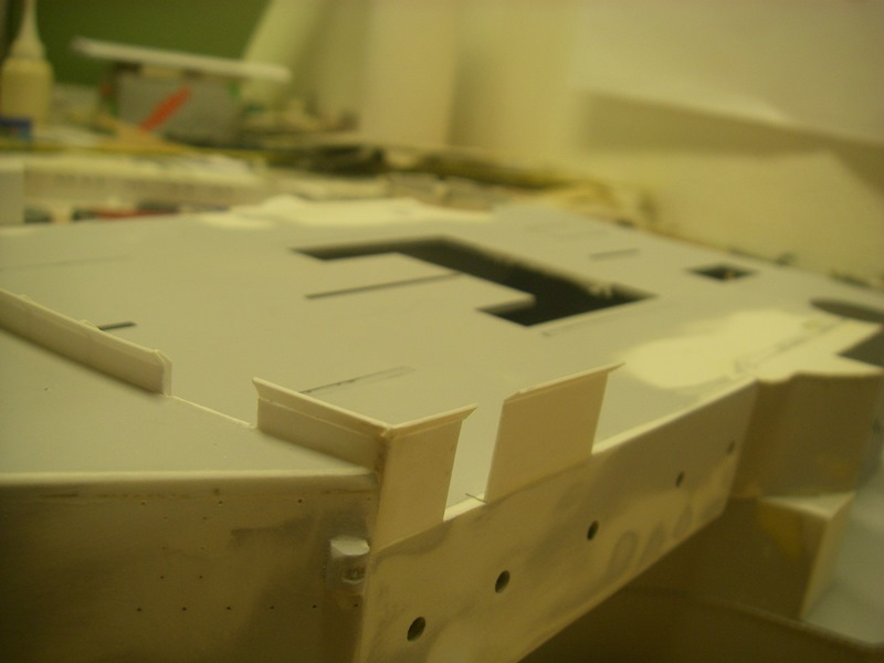 Bau der Bismarck in 1:100  Imgp8543