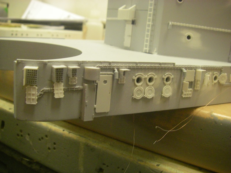 Bau der Bismarck in 1:100  Imgp8559