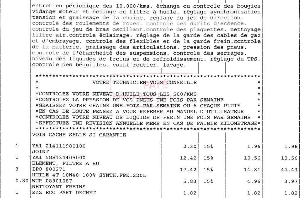 Tarif Révision 10 000 km MT09 Tracer - Page 5 Captur10