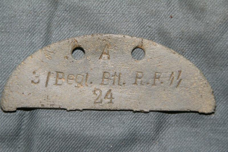 Ma plus rare plaque d'identité allemande (SS) Reichs12