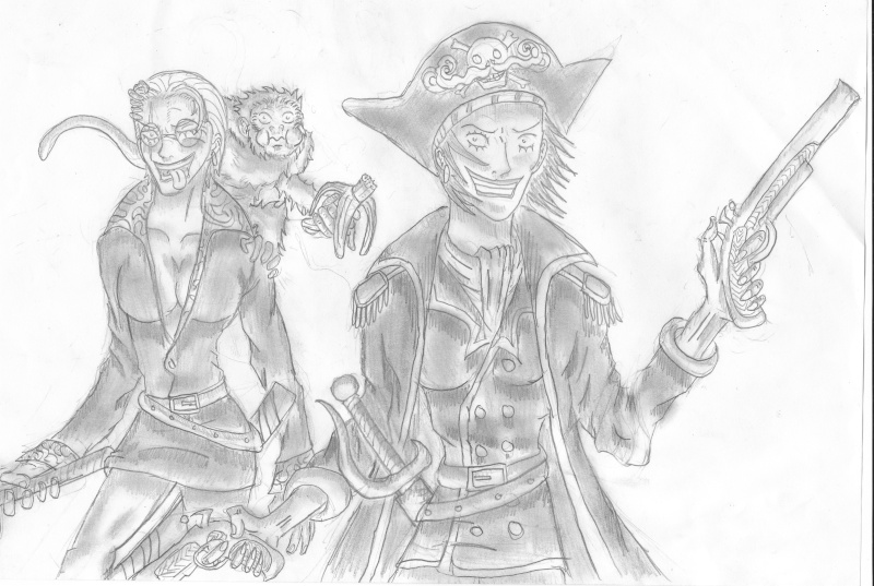 Battle dessin One Piece ( les dessins ) Jollie11
