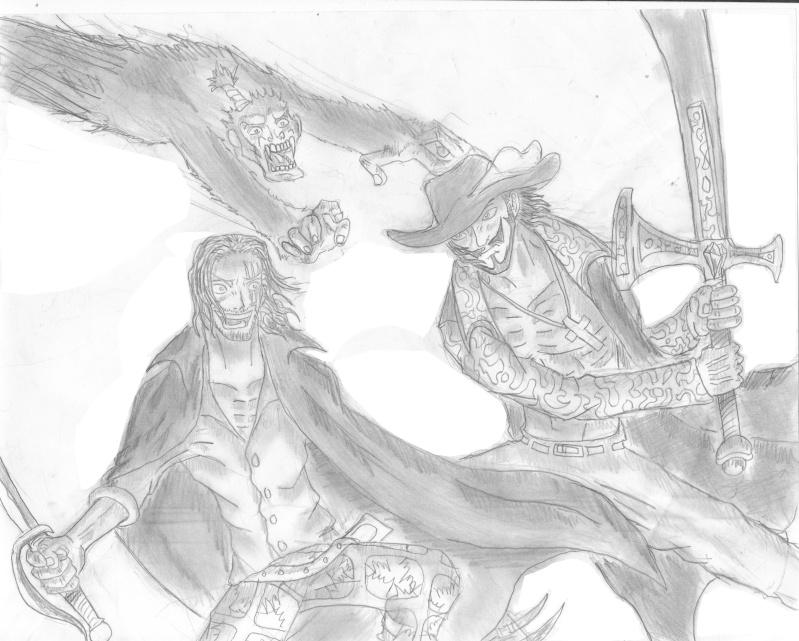 Battle dessin One Piece ( les dessins ) Shanks10