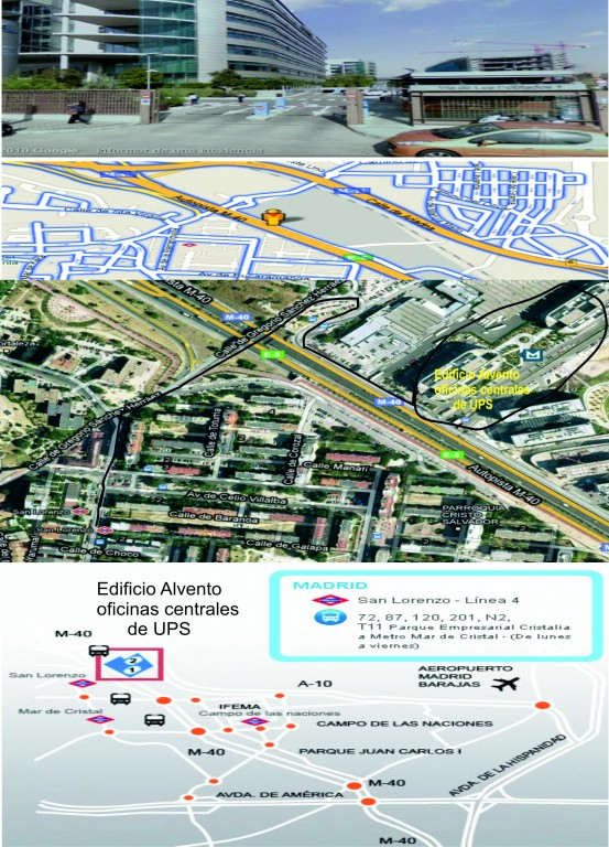 Concentración en las oficinas centrales de UPS, Martes dia 4 de Enero de 2011 a las 10:00 horas ¡POR LA READMISIÓN DE LOS COMPAÑEROS DESPEDIDOS! Mapa_a10
