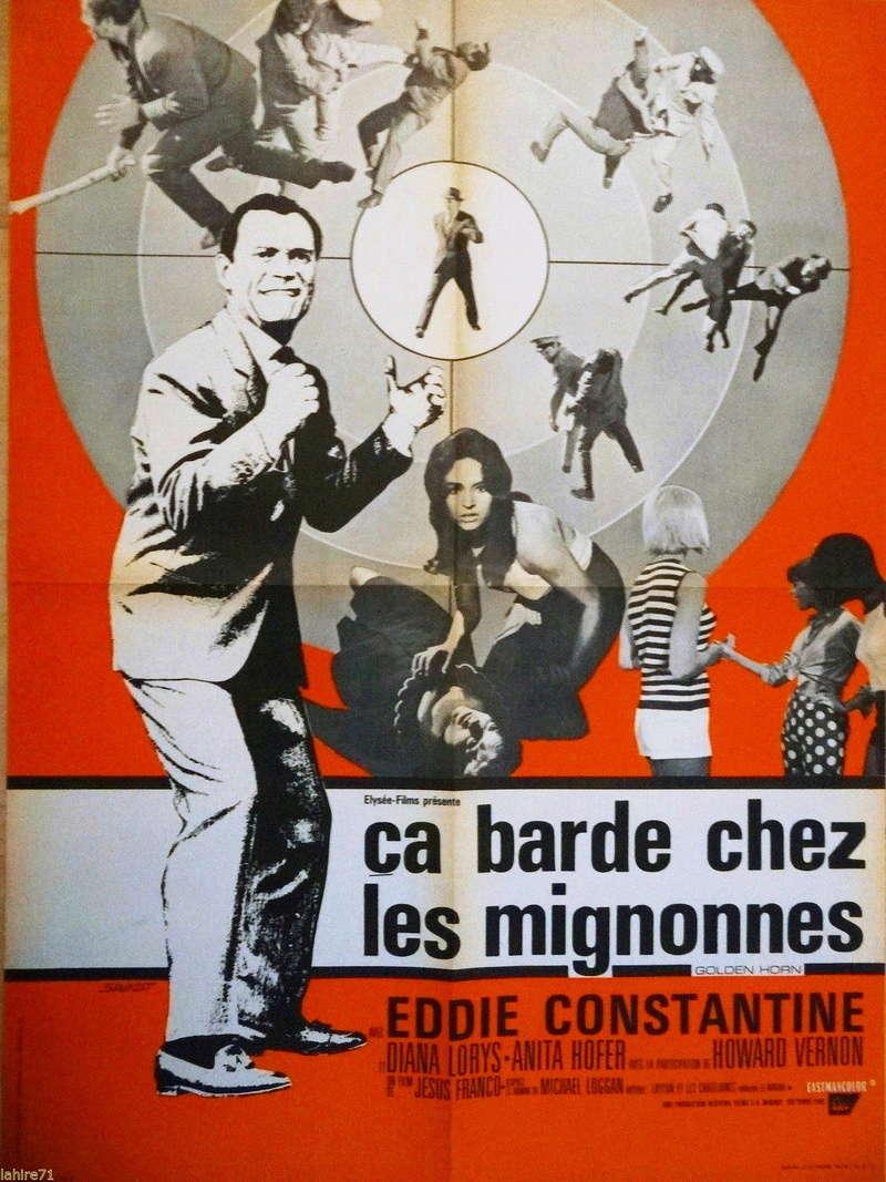Ça barde chez les mignonnes. Residencia para espías. 1966.  Jesús Franco. Aff_mi11