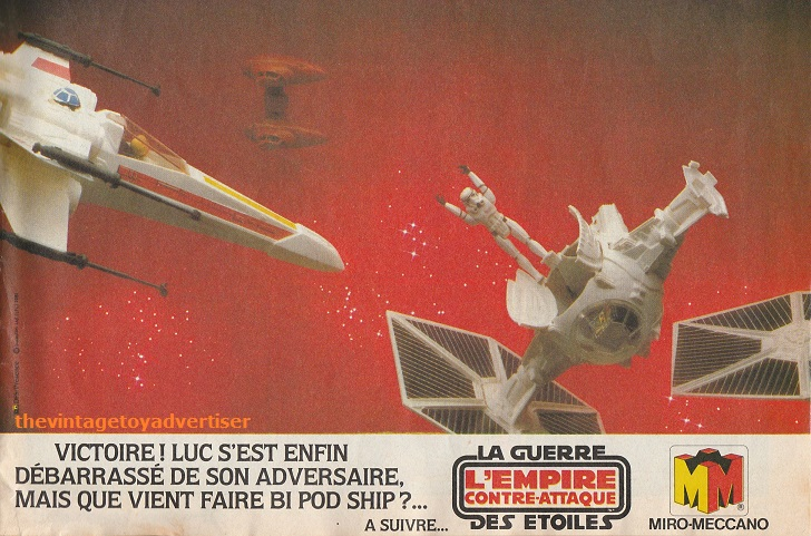 Meccano Star Wars adverts from French PIF Gadget comic magazine Esb_sa11