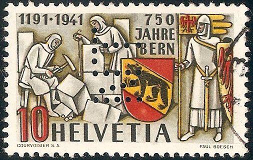 SBK 253  (Mi 398) 750 Jahre Bern - Seite 3 253_pe11
