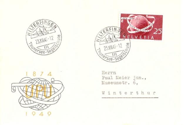 SBK 295 Weltkugel und Brief 29530210