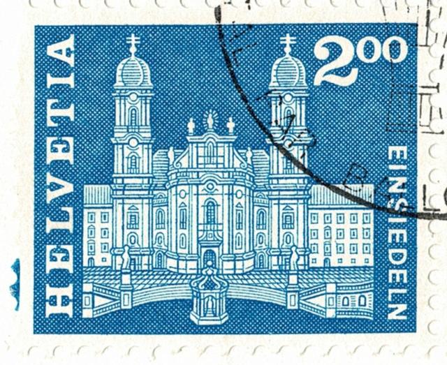 SBK 372 (Mi 713) Klosterkirche, Einsiedeln 372_2_11