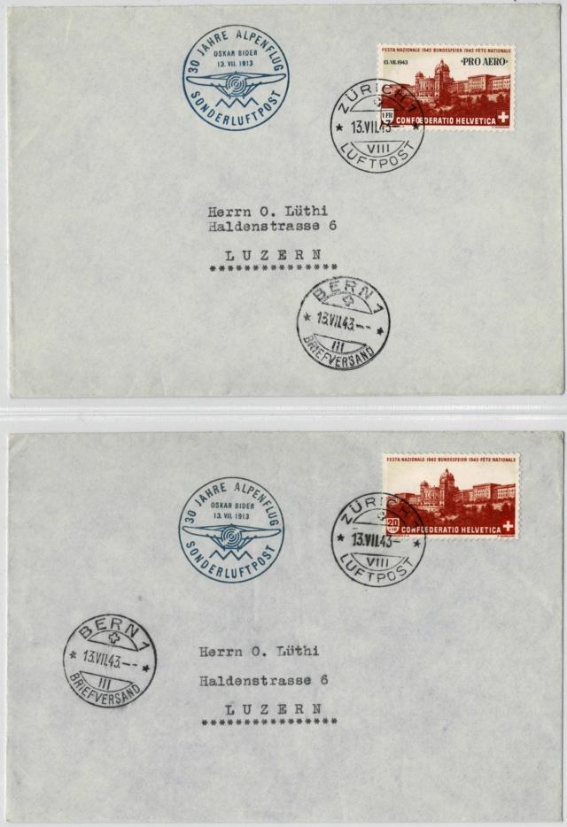 LH SF 43.1:  13.7.1943 Bern-Zürich und Zürich Bern Überfliegung der Alpen durch Bider 43er_f10