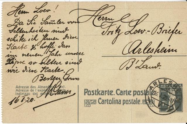Ganzsachenpostkarten - Ausgaben 1900 bis 1934 68y_ve10