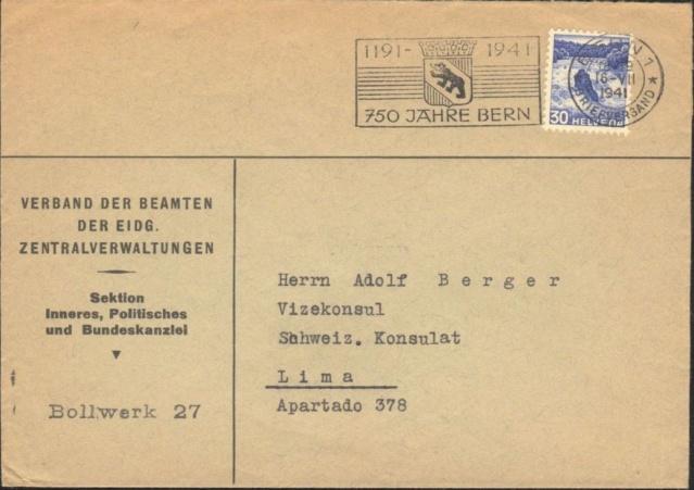 Werbeflaggenstempel 750 Jahre Bern 750_ja11