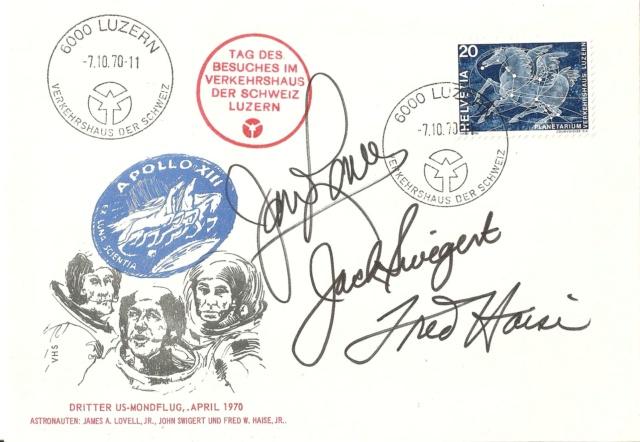 Autographen / Unterschriften bekannter Personen Apollo10