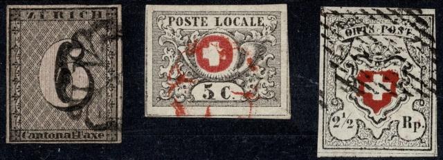 Zürich 6, Genf 5 cent. und Ortspost: Fälschungen oder Echt? Asecht10