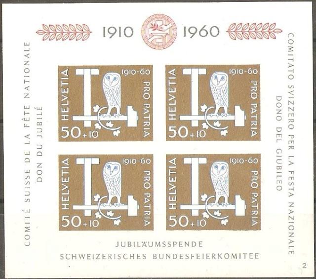 SBK B101 (Mi Bl. 17) Jubiläumsblock Eulen B101_o11