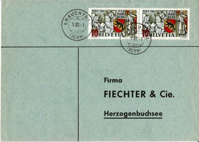 SBK 253  (Mi 398) 750 Jahre Bern - Seite 4 B1_und11